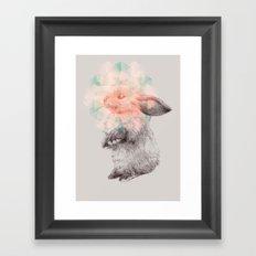 Techno-bunny Framed Art Print