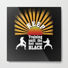 Black Belt Metal Print
