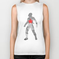 the winter soldier Biker Tanks featuring Winter Soldier (Bucky Barnes) by MajesticSeahawk Designs