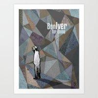 bon iver Art Prints featuring Bon Iver by Kat Gifford