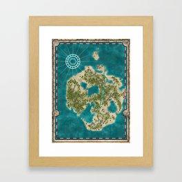 Pirate Adventure Map Framed Art Print