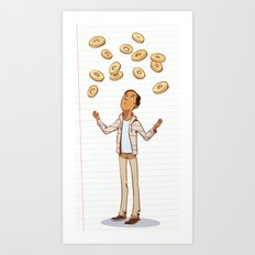 so much for baggles Art Print