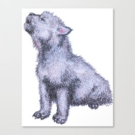 Howling Wolf Pup Canvas Print