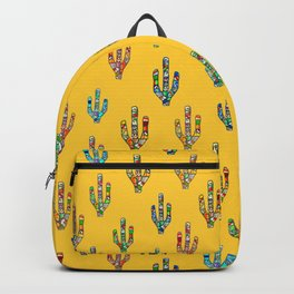 Mosaic Cacti on Yellow Backpack