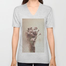 Abstract Vintage Flowers Unisex V-Neck