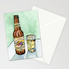 Kirin Beer and Glass Stationery Cards
