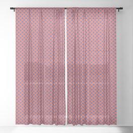 1950s Style Memphis Polka Dot Seamless Pattern Sheer Curtain