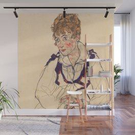 "Egon Schiele ""Bildnis Edith Schiele (Portrait of Edith Schiele)"" Wall Mural"