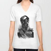 bdsm V-neck T-shirts featuring BDSM XXXII by DIVIDUS
