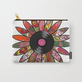 Retro Vinyl Flower Carry-All Pouch