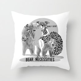Bear Necessities #1 Bearly Secret Throw Pillow