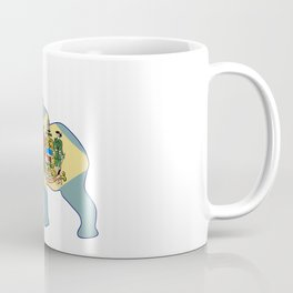 Delaware Republican Elephant Flag Coffee Mug