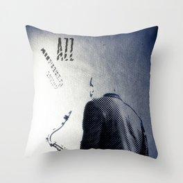 Saxophonist, Jazz Poster Throw Pillow