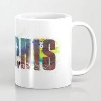 memphis Mugs featuring Memphis by Tonya Doughty