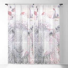 Animal ArtStudio 1819 Sheep Sheer Curtain