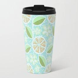 Orange Mosaic Travel Mug