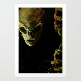 Alien in Darkness Art Print