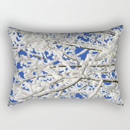 Frosted Tree Rectangular Pillow