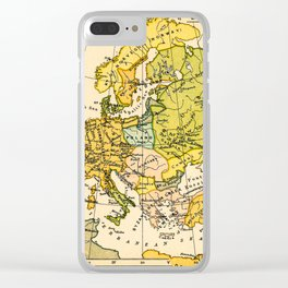 Europe in 1135 - Vintage Map Collection Clear iPhone Case
