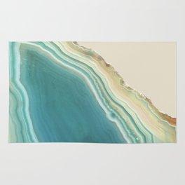 Geode Turquoise + Cream Rug