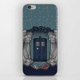 Art Nouveau Weeping Angels and the TARDIS iPhone Skin