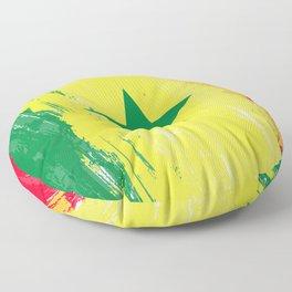 Senegal's Flag Design Floor Pillow