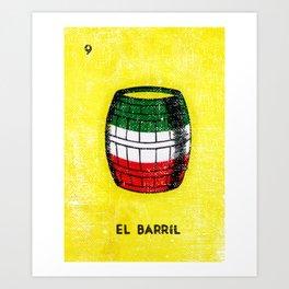 El Barril Mexican Loteria Bingo Card Art Print