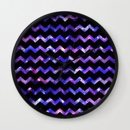 Chevron Galaxy Wall Clock