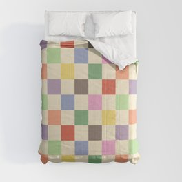 Colorful Checkered Pattern Comforters