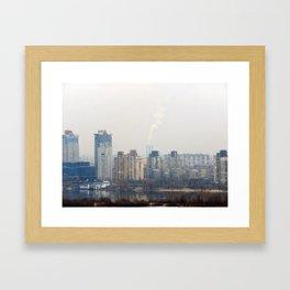 Travel to the city of Kiev Ukraine Framed Art Print