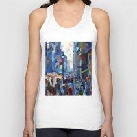 city Tank Tops featuring City by Emma Reznikova
