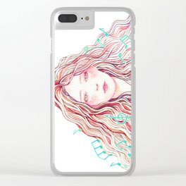 Music Girl Clear iPhone Case