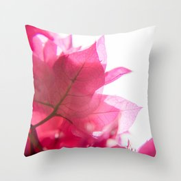 Bright Bougainvillea Throw Pillow