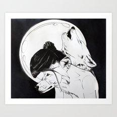 Wolf Familiar (werewolf) Art Print