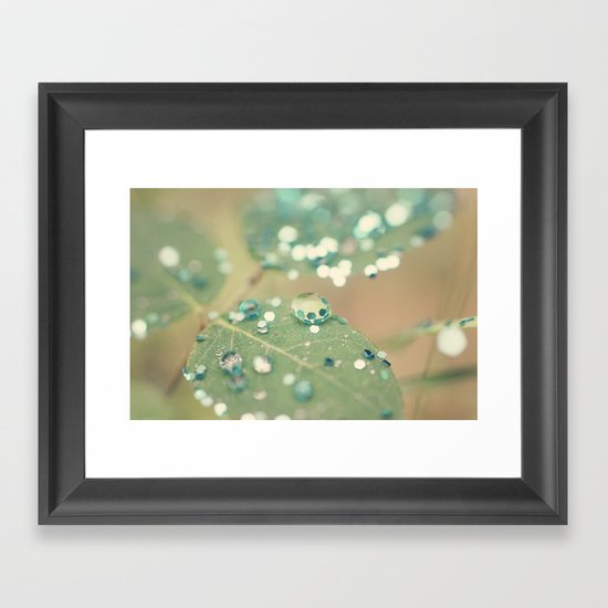Playing in the Rain Framed Art Print