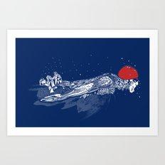 Olympic Swimmer  Art Print