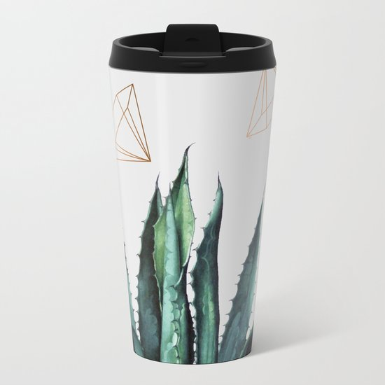 Agave Geometry #society6 #decor #buyart Metal Travel Mug