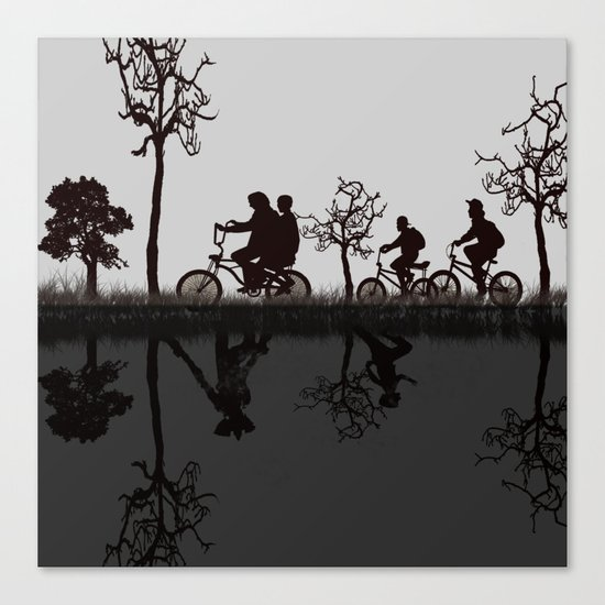 the upside down - stranger things s Canvas Print