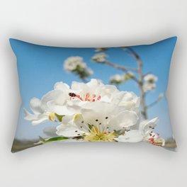 pear flowers Rectangular Pillow