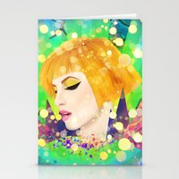 hayley williams Stationery Cards featuring Digital Painting - Hayley Williams - Variation by EmmaNixon92