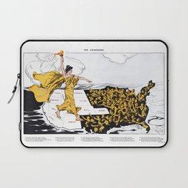 The Awakening - Women's Suffrage Illustration, 1915 Laptop Sleeve