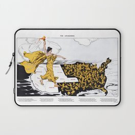 The Awakening - Women's Suffrage Illustration, 1915 Laptop Sleeve