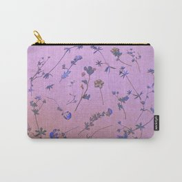 Vintage Lilac Wildflowers Carry-All Pouch