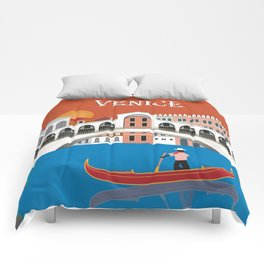 Venice, Italy - Skyline Illustration by Loose Petals Comforters