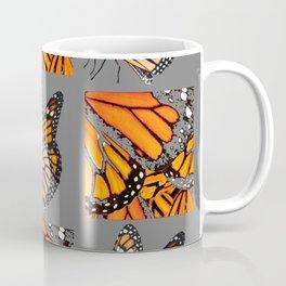 DECORATIVE MONARCH BUTTERFLY GREY DISPLAY CHART Coffee Mug