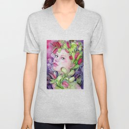 Under the Gaze of Venus Unisex V-Neck