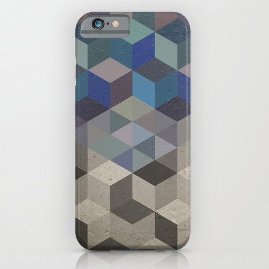 Dimension in blue iPhone & iPod Case