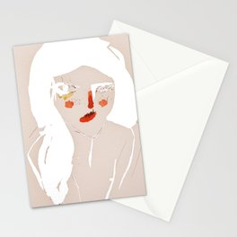 'messy hair' Stationery Cards