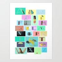 Vice –A to Z Art Print