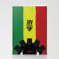reggae Stationery Cards featuring Reggae King by JRV Distorted Works